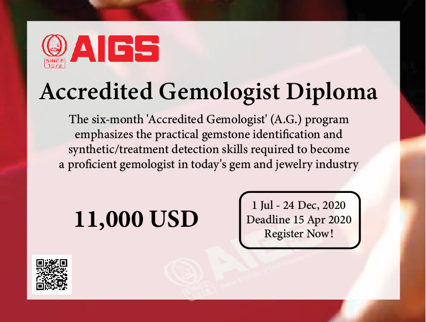 Accredited Gemologist, A.G., Gemstones,